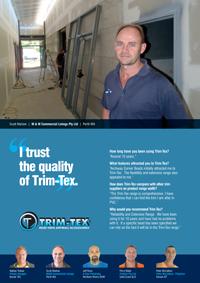 Scott Marlow trusts the quality of Trim-Tex