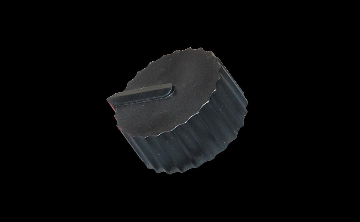 Black control knob for Plastic Taper