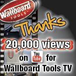 Wallboard Tools TV achieves 20,000 views