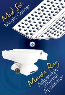 "Mud Set Magic Corner and the ""Manta Ray"" Adjustable Internal Applicator"