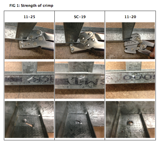 Figure 1: Quality and strength of crimp