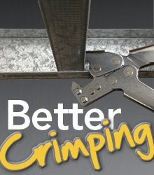 better crimping with the 11 25 stud crimpers from wallboard tools - Metal Stud Framing Tools