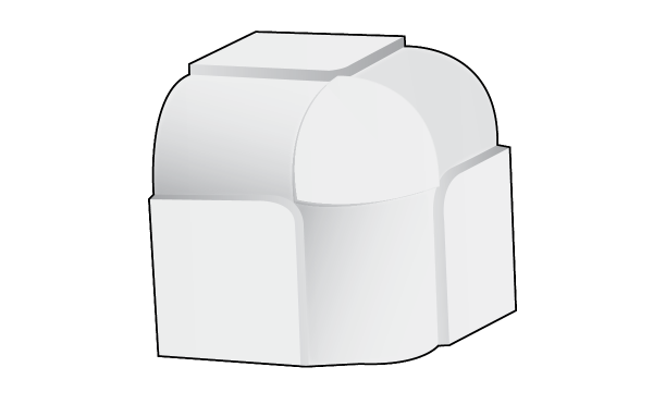 Step A Bull 10mm 3 Way Adaptor Trim-Tex