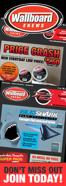 Wallboard Tools eNews - New Products, Competitions, Specials and more!