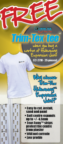 Free Trim-Tex Tee - with Hideaway Expansion Joint