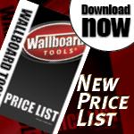 New Wallboard Tools price list effective November 1st 2014