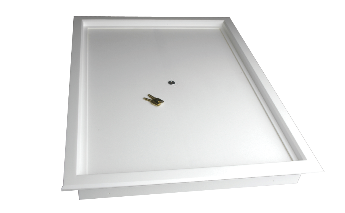 Kimberley Manhole Frame with Lockable Plastic Door