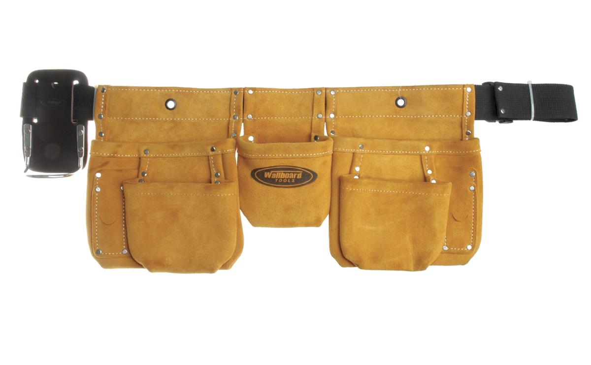 Wallboard Tools 5 pocket suede nail bag