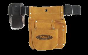 Wallboard Tools 2 pocket suede nail bag