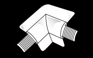 19mm Bullnose 2 Way Internal Corner Piece