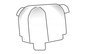 Trim-Tex 19mm Bullnose 3 Way Internal Corner Piece