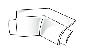19mm Bullnose J Round Corner Piece
