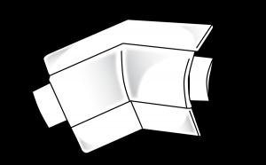 Trim-Tex 19mm Bullnose 2 Way Splayed Inside Corner Piece