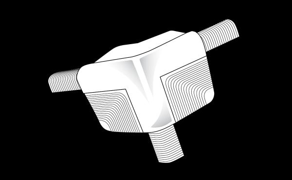 Trim-Tex 10mm Bullnose 3 Way Splayed Corner Piece