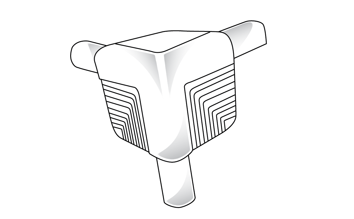 Trim-Tex 10mm Bullnose 3 Way Corner Piece