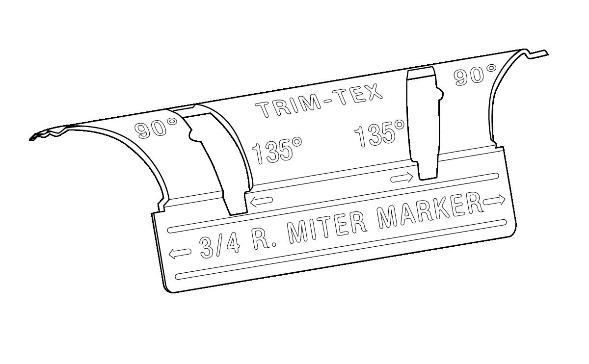 19mm Bullnose Mitre Marker