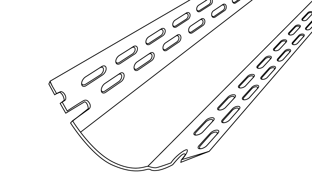 19mm Bullnose 90 degree Inside Corner Bead