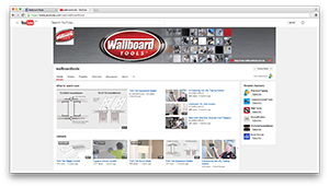Wallboard Tools on YouTube
