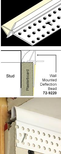 Trim-Tex Wall Mounted Deflection Bead