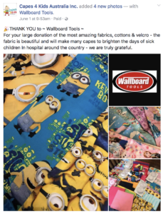 Wallboard Tools: Proudly supporting Capes 4 Kids Australia Inc
