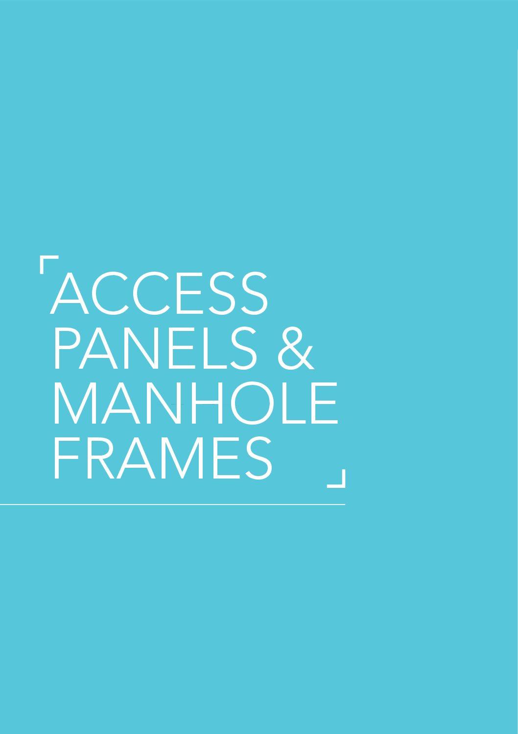 Access Panels & Manhole Frames