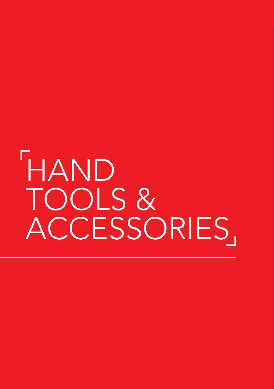 Hand Tools & Accessories