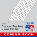 Trim-Tex Oversized Tear Away L Bead - COMING SOON