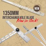 Wallboard Adjustable T Square 1350mm Interchangeable Blade